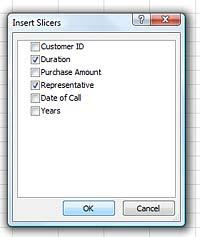 create slicer.