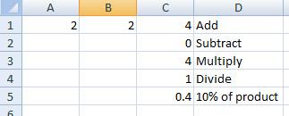 simple excel formulas